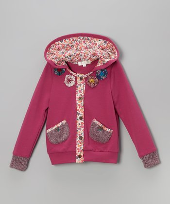 Fuchsia Flower Jacket - Toddler & Girls