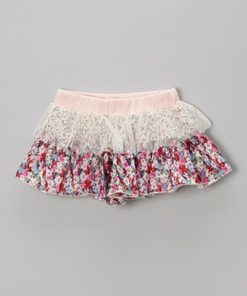 Pink Floral Skirt - Infant, Toddler & Girls