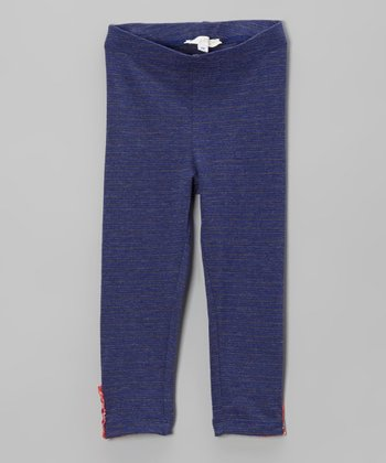 Royal Blue Patch Leggings - Toddler & Girls