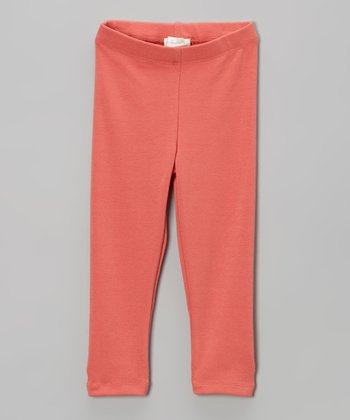 Orange Classic Leggings - Infant, Toddler & Girls