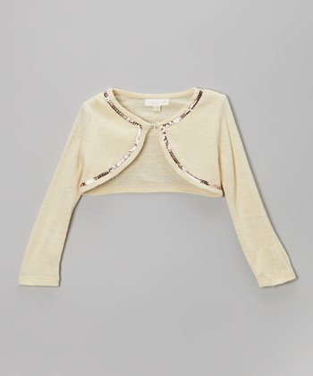 Taupe Sequin Bolero - Infant