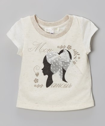Cream 'Mon Amour' Tee - Infant, Toddler & Girls