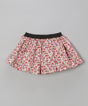 Pink Floral Circle Skirt - Toddler & Girls