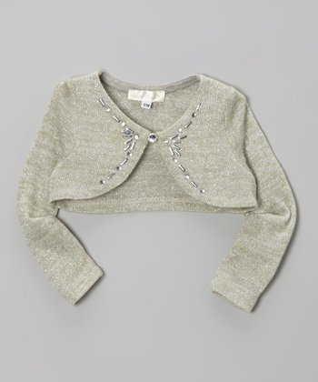 Silver Sparkle Bolero - Infant, Toddler & Girls