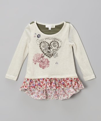 Ivory Hi-Low Ruffle Tunic - Infant, Toddler & Girls