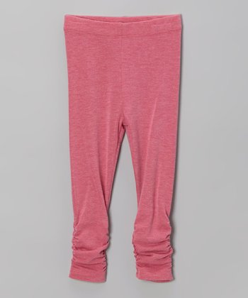 Pink Ruched Leggings - Infant, Toddler & Girls