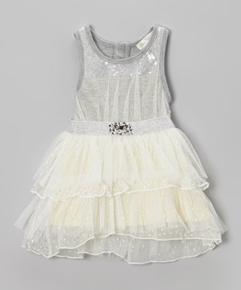 Silver Sequin Tutu Dress - Infant, Toddler & Girls