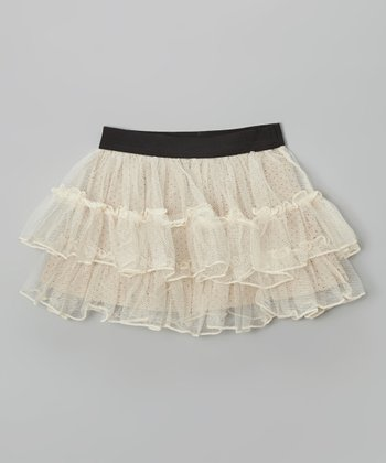 Ivory Polka Dot Tutu Skirt - Infant, Toddler & Girls