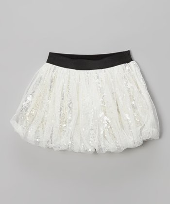 Silver Sequin Bubble Skirt - Infant, Toddler & Girls