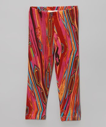 Fuchsia Psychedelic Leggings - Infant & Toddler