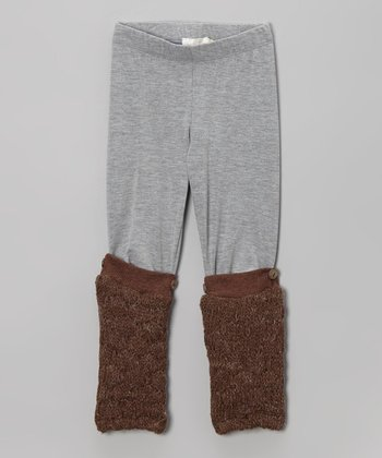 Gray Leggings & Detachable Leg Warmers - Infant, Toddler & Girls