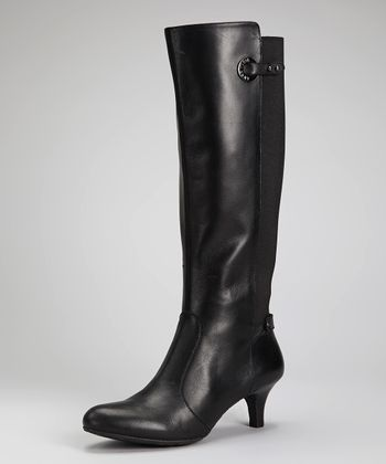 Black Leather Abebe Boot