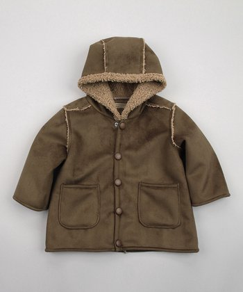 Olive Green Hooded Jacket - Infant