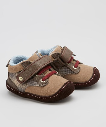 Brown & Plaid Crawl Brisk Brent Bootie