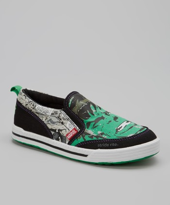 Green & Black Marvel™ Hulk Slip-On Sneaker