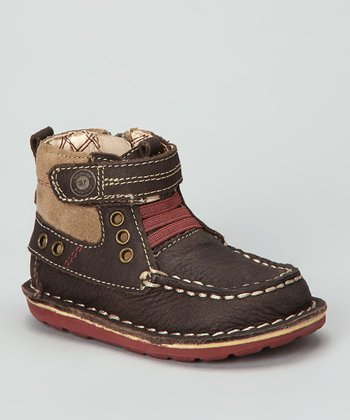 Dark Brown Medallion Collection Maxwell Boot