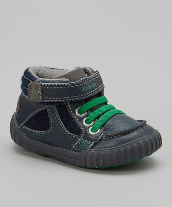 Navy & Green Quest Bootie