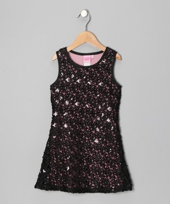 Black Holiday Princess Dress - Toddler & Girls