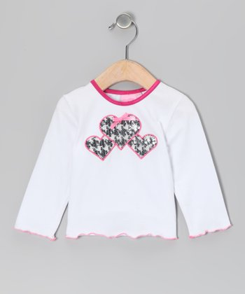 White Houndstooth Heaven Tee - Infant & Toddler