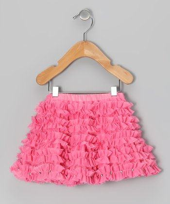 Pink Houndstooth Skirt - Infant & Toddler