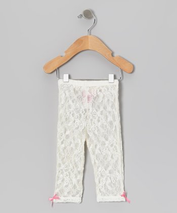 Ivory Lace Leggings - Infant & Toddler