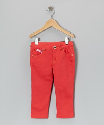 Red Rhinestone Jeggings - Toddler & Girls