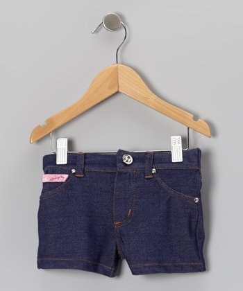 Gray Knit Embroidered Shorts - Toddler & Girls