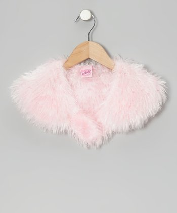 Pink Faux Fur Cape - Toddler & Girls