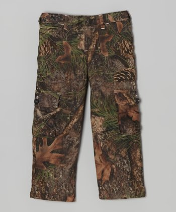 Mixed Pine Camo Cargo Pant - Girls