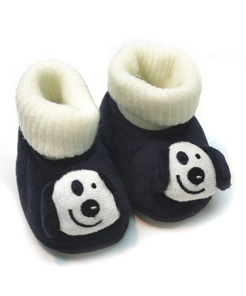 Tender Toes Navy Blue Doggy Bootie