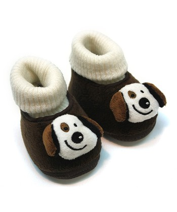 Tender Toes Chocolate Brown Doggy Bootie