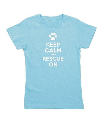 Aqua 'Keep Calm and Rescue On' Tee - Toddler & Girls