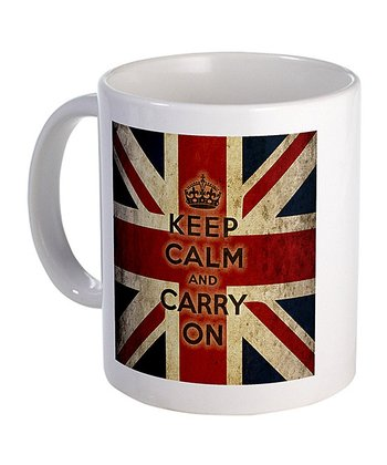 Vintage Union Jack 'Keep Calm and Carry On' Mug