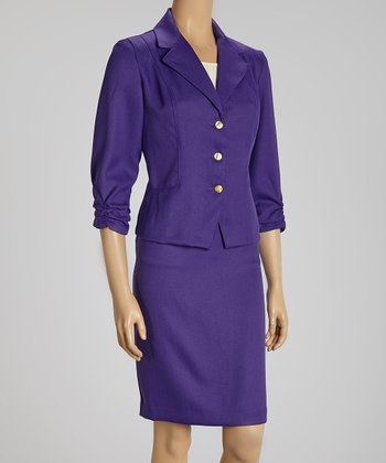 Purple Blazer & Skirt