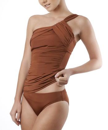 Copper Cleo Asymmetrical Tankini
