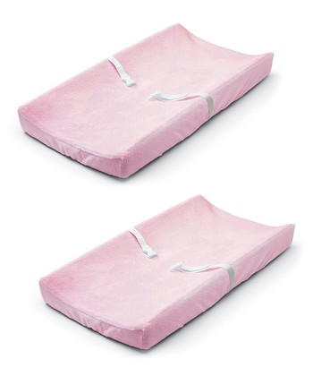 Pink Ultra Plush Changing Pad Cover Set