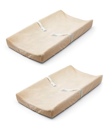 Ecru Ultra Plush Changing Pad Cover Set