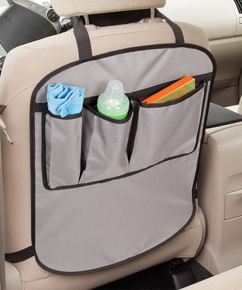 Gray Car Seat Kick Protector Set