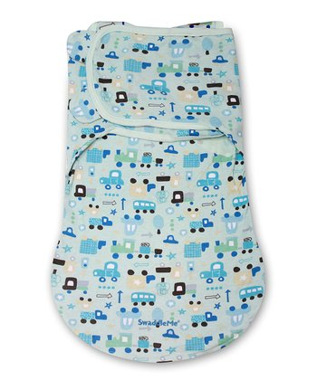 Light Blue Transportation SwaddleMe WrapSack