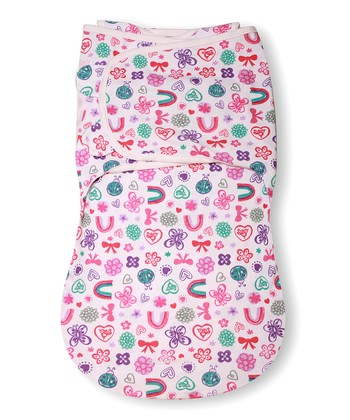 Pink Flower Burst SwaddleMe WrapSack