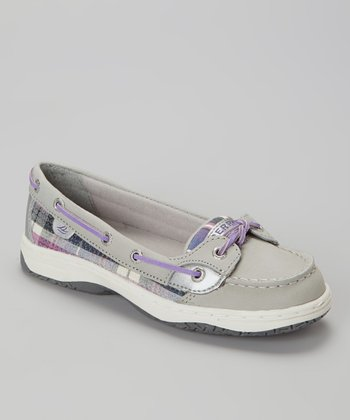 Gray & Kilt Plaid Angelfish Boat Shoe