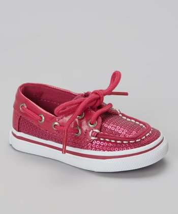 Hot Pink Sparkle Bahama Boat Shoe