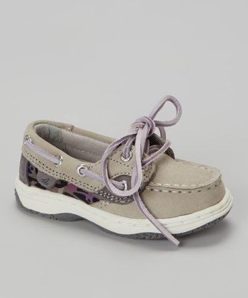Gray & Flocked Leopard Bluefish Boat Shoe