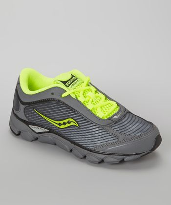 Gray & Citron Virrata Running Shoe - Kids