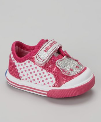 Pink Glitter Hello Kitty Crib Sneaker