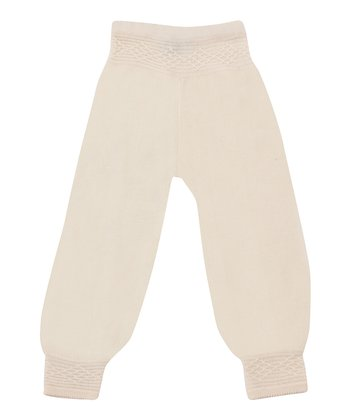 Crème White Saga Merino Wool Pants - Infant & Toddler