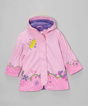 Light Pink 'Princess' Raincoat - Infant, Toddler & Girls