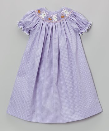 Lavender Bunnies Bishop Dress - Infant