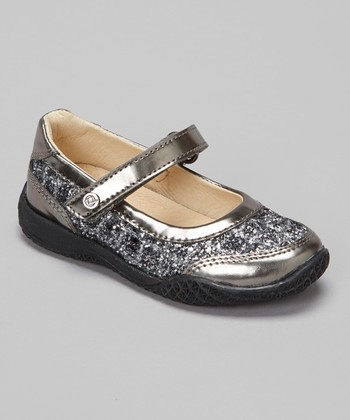 Pewter Glitter Lacca Mary Jane