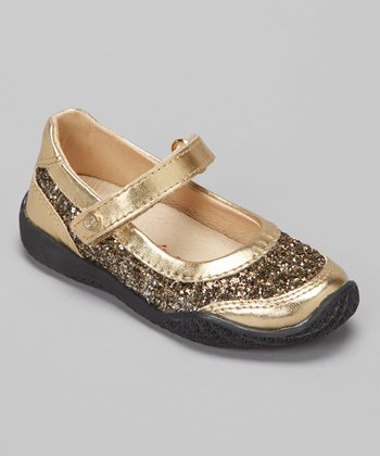 Gold Glitter Lacca Mary Jane